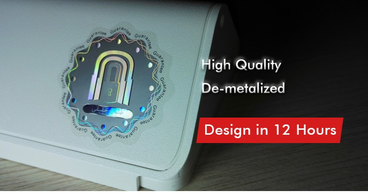 3D security hologram sticker with de-metalized technology