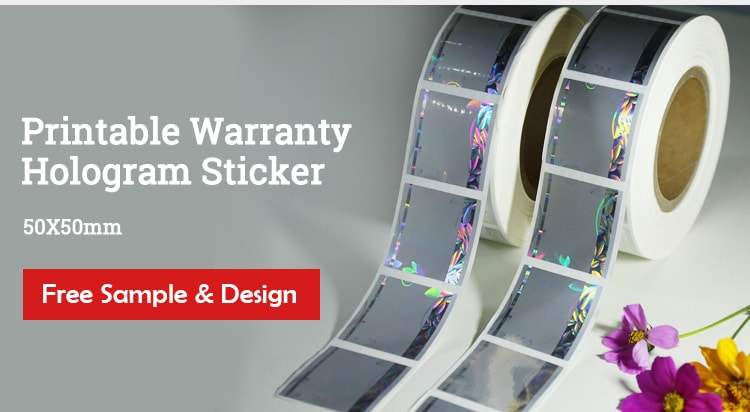 50mm Square Hologram Warranty Sticker