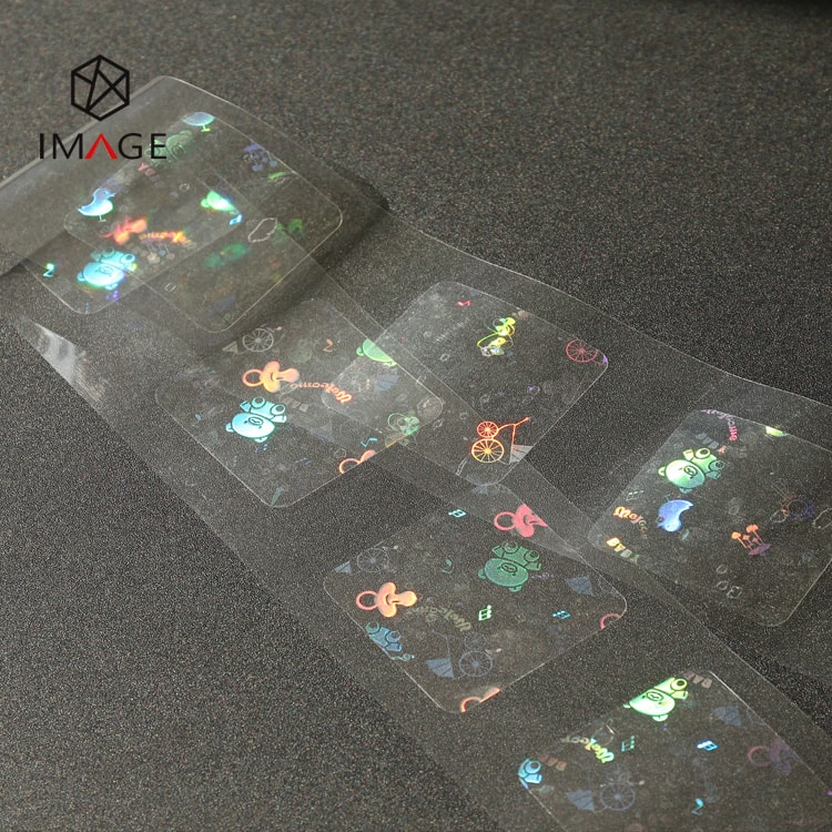 50mm square transparent hologram label