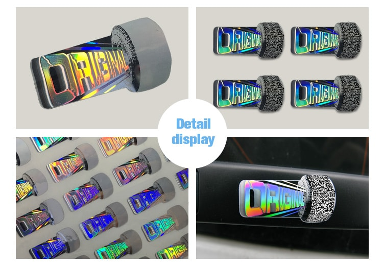 Colorful Hologram Anti Fake Warranty Label for auto spare parts