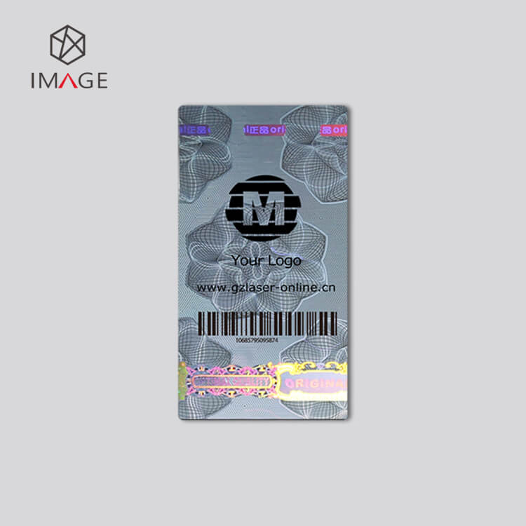Print logo and barcode on tamper evident security labels