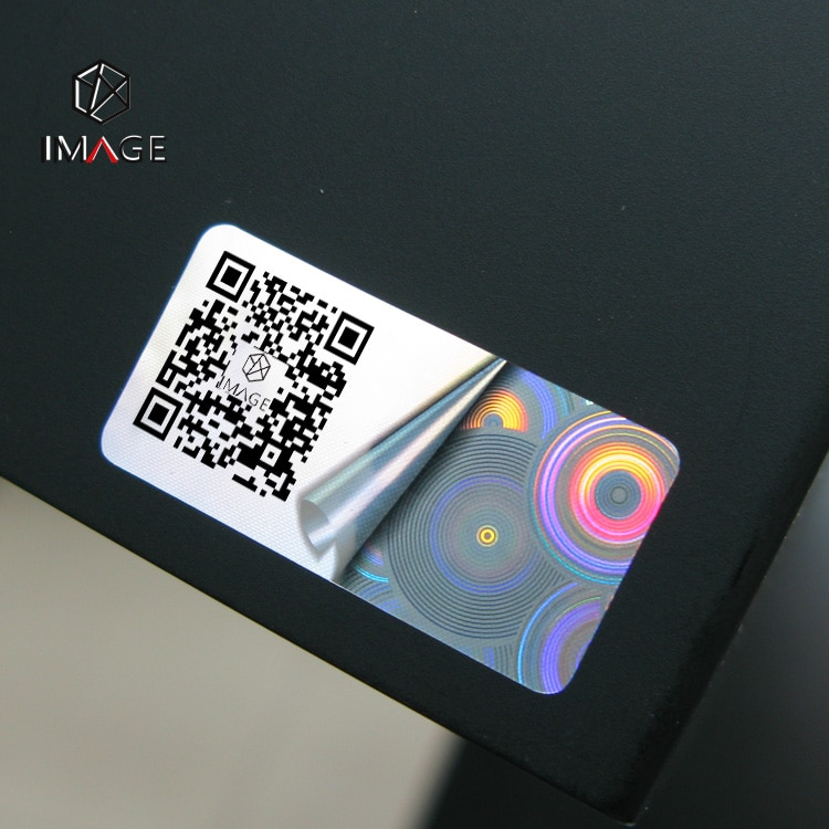 adhesive hologram label with qr code