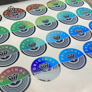 circle light diffraction adhesive holographic label
