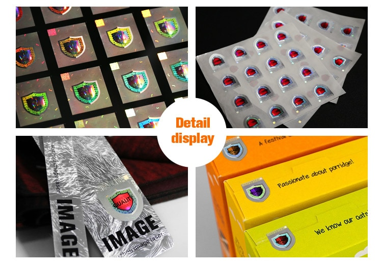 custom size adhesive hologram sticker with optical tech and colorful printing