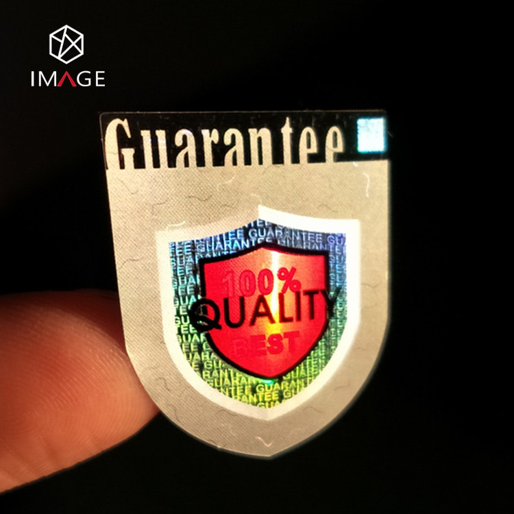 custom specification adhesive hologram sticker with demetallizatin tech