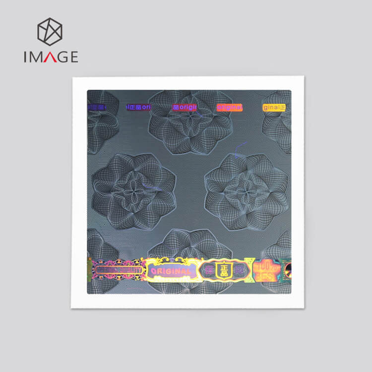 dynamic flower pattern square shape optical printable hologram sticker