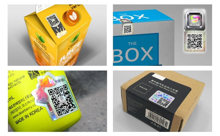 hologram qr code sticker for various package boxes