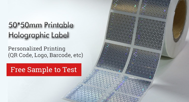 laser holographic label, available to do custom printing