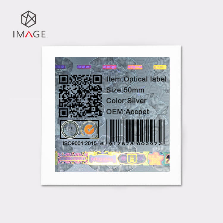 printable holographic stickers with qr codes barcodes and texts