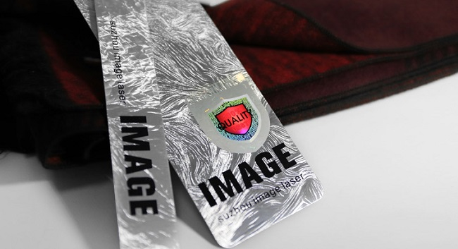 self adhesive hologram sticker for clothing hangtag