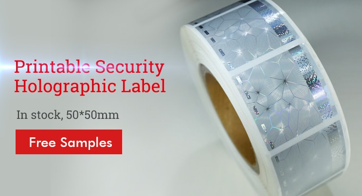 stock supply holographic printable security label