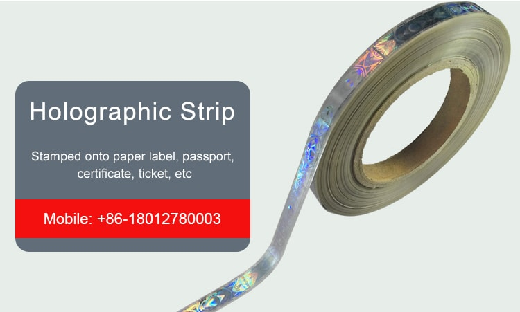 12mm hot stamping holographic strips for certificates passports tickets and paper labels