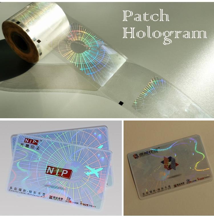 15 um Anti-scratch Hologram Patch Film for Cards