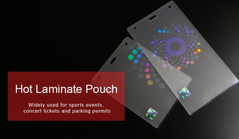 175X225mm hologram hot laminate pouch with custom logo