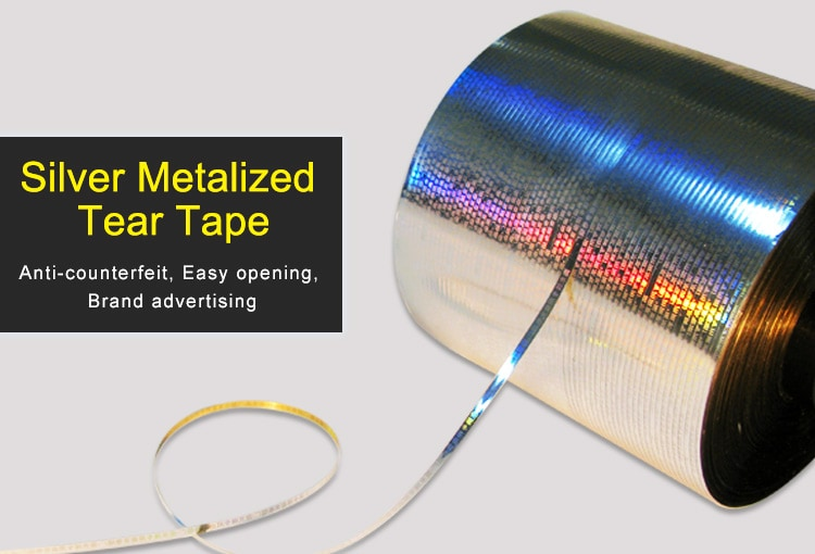 2.5mm Silver Metalized Holographic Tear Tape