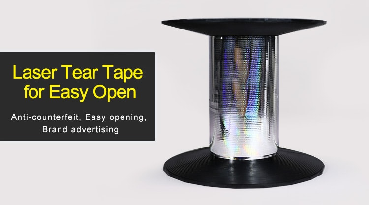 2.5mm laser tear tape for the easy opening purpose