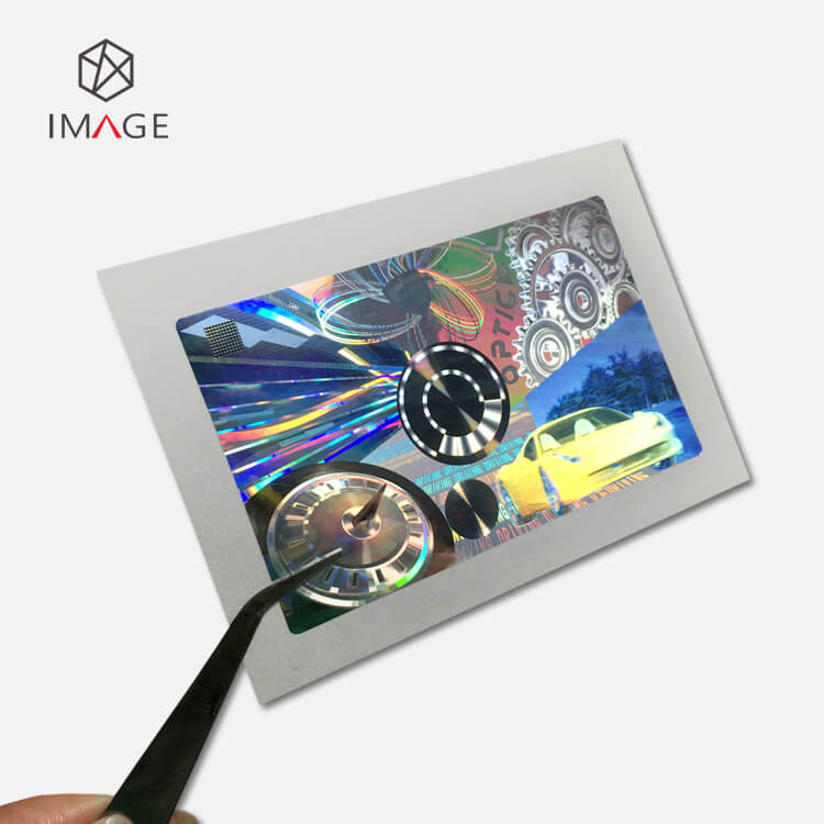 2D 3D True Color Hologram Sticker