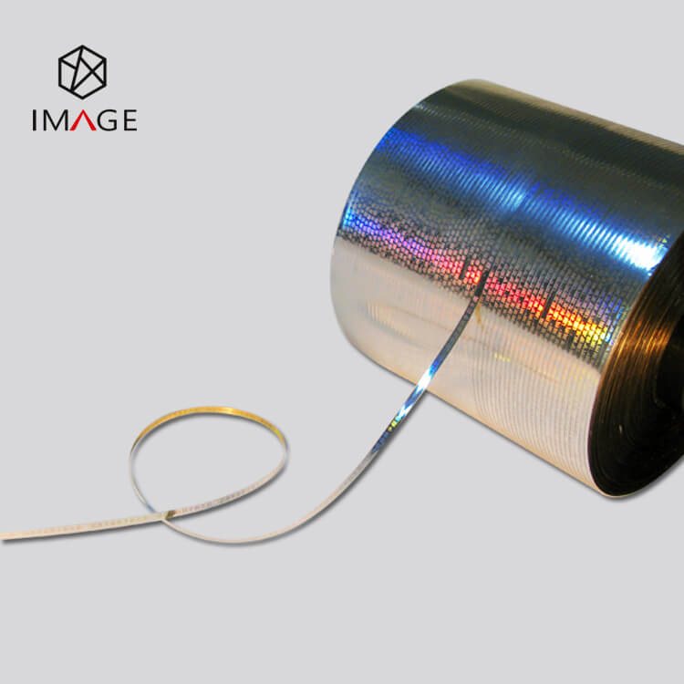 35 Micron Silver Metalized Holographic Tear Tape