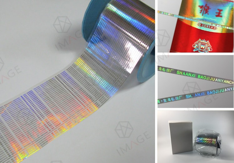 36 Micron PET Hologram Tear Tape with My own Text