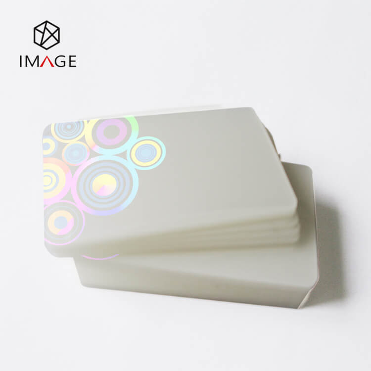 86X54mm Transparent Hologram ID Card Lamination Pouches