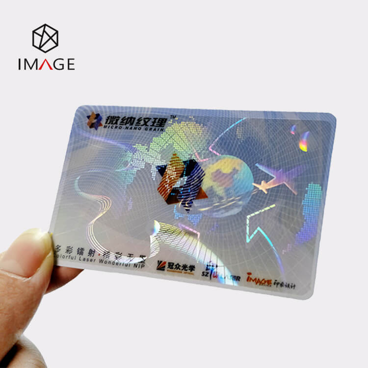 Airplane Earth Self Adhesive Hologram Overlay for Cards
