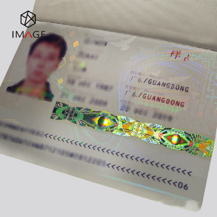 Book Type Hologram Heat Transfer Film for Passports