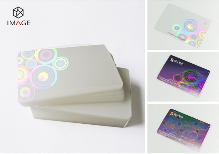 Custom Hologram Lamination Pouches, Laminate Standard CR80 Card