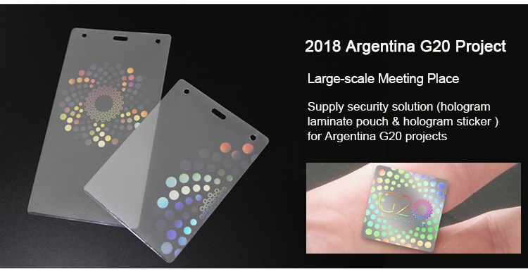 Hologram Hot Laminate Pouch for 2018 Argentina G20 Project