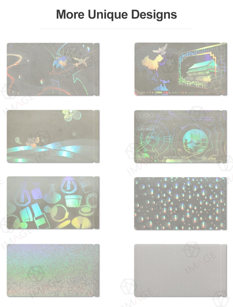More selectable generic transparent holographic overlay