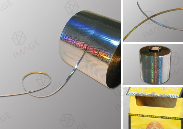 Silver Metalized Holographic Tear Tape for tobacco box