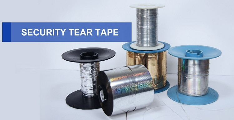 gold, silver and transparent color hologram security tear tape