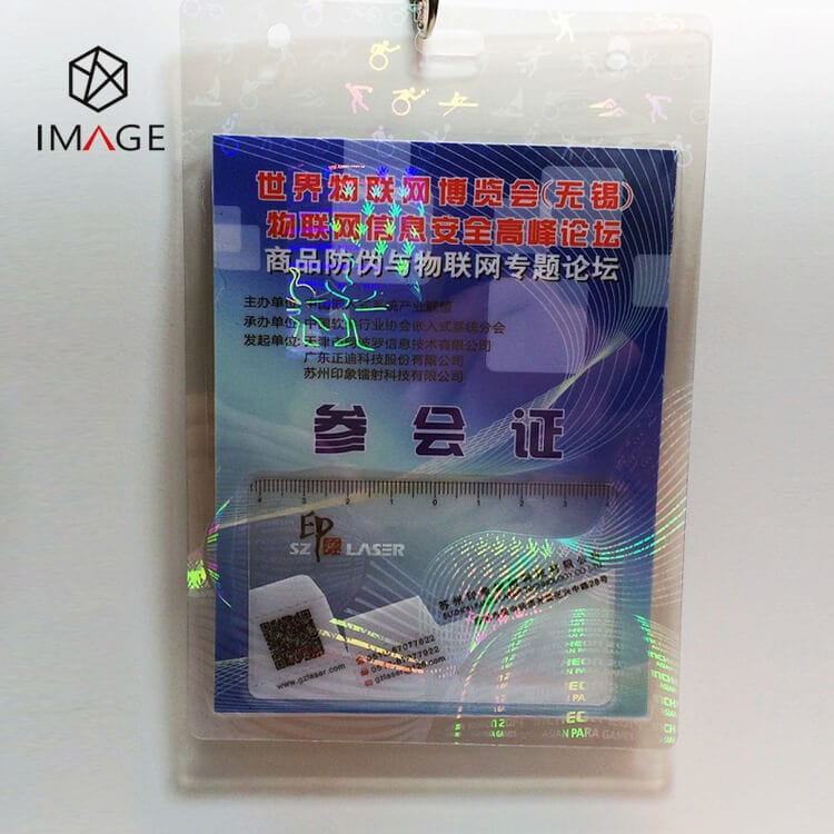 hanging type hologram hot laminating security pouches