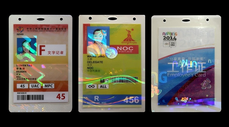 hologram laminating pouch film, used to laminate sports event ids
