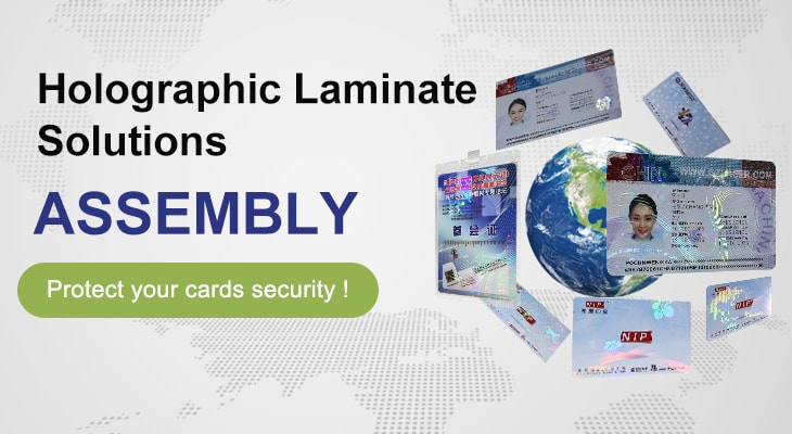 hologram overlays, custom hologram laminate solutions for your ID cards
