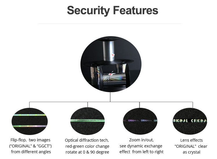 hologram security features of tea tape