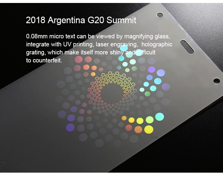 holographic lamination pouch for Argentina G20