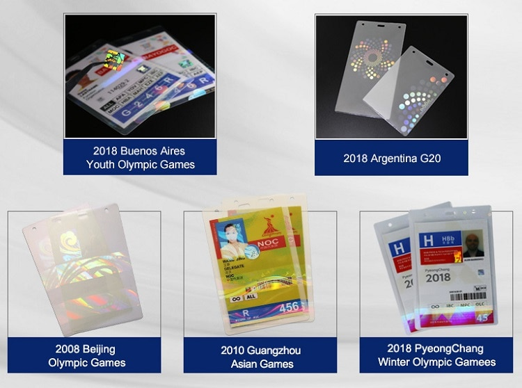 holographic lamination pouches for Olympic Games, Asian Games Projects