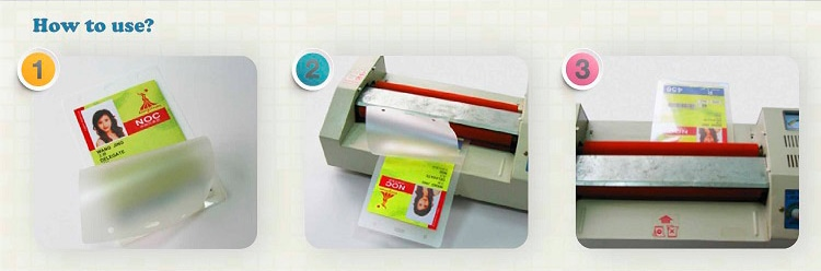 laminate the hologram pouch film with certificates via pouch laminator