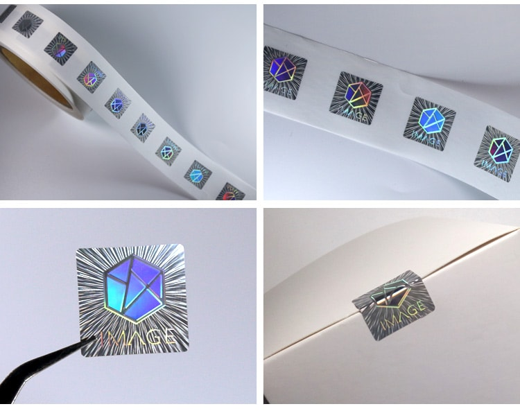 reel format 3d relief hologram sticker for seal