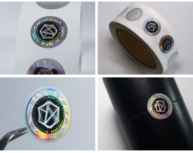 reel type rainbow 3d hologram sticker for tea packaging