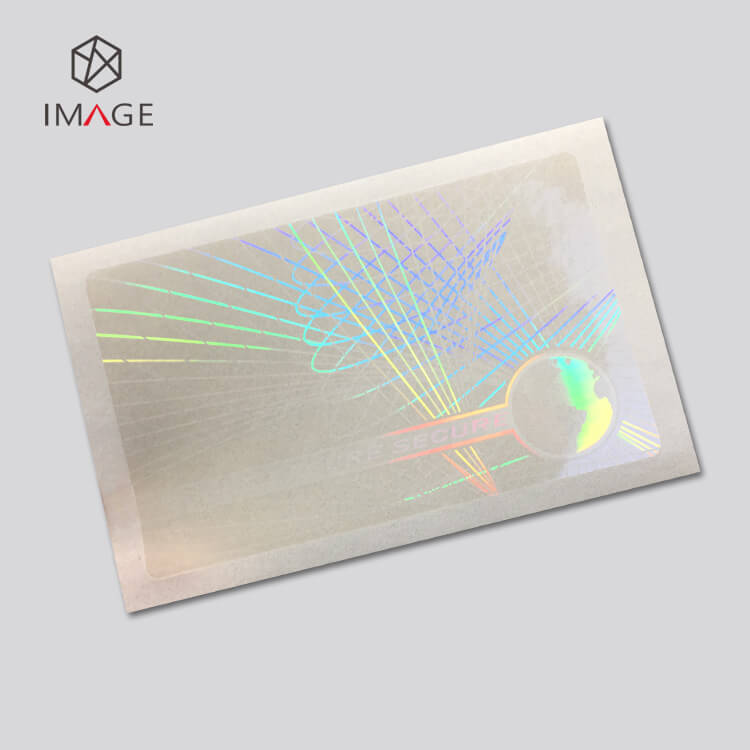 secure pattern transparent holographic cold laminate overlay