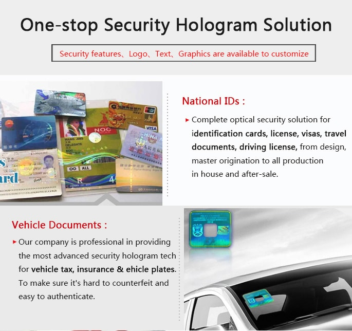security solution for national ids and vehicle documents
