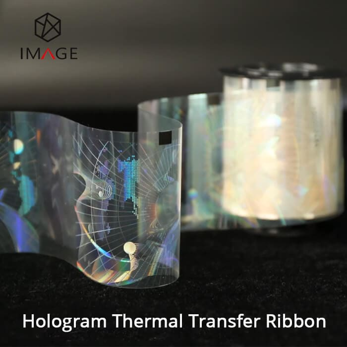 transparent holographic thermal transfer ribbon for ID Card