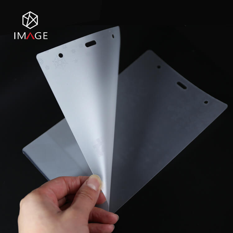 two layers of holographic heat laminating pouches