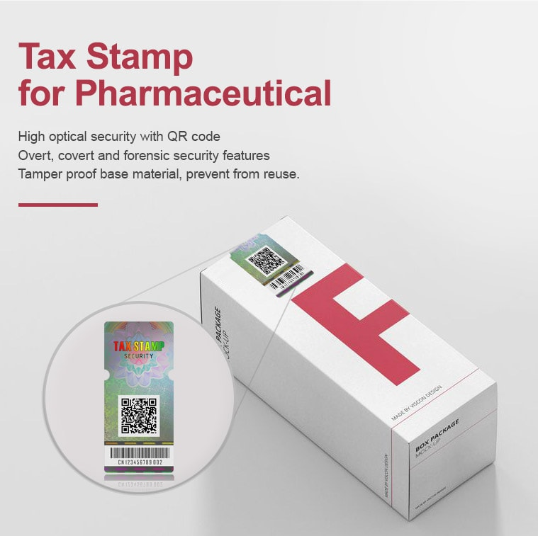 Holographic Tax Stamp for Pharmaceutical Packaging Boxes