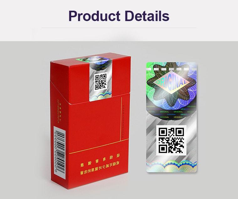Original hologram tobacco duty stamp
