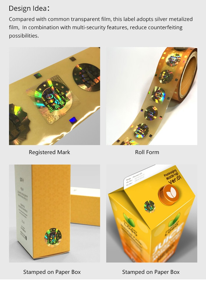 gold hologram hot stamping foil for paper packaging application