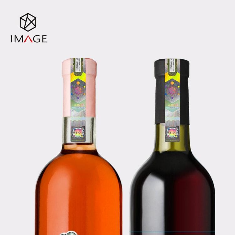 hologram excise tax stamp, seals for liquor bottle