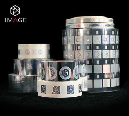 registered hot stamping hologram foil in roll form