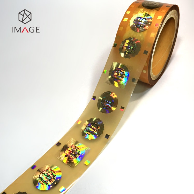 roll form gold hologram hot stamping foil